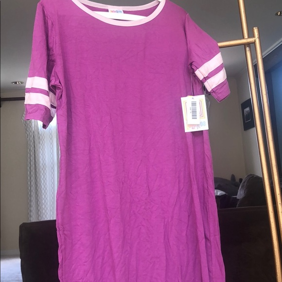 LuLaRoe Dresses & Skirts - LLR Julia Pink with light pink stripes XL